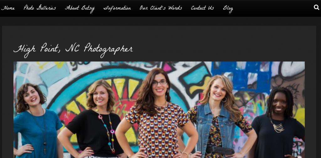 24-7 Photography WordPress Website